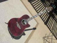 This is my Ovation Celebrity hollow body acoustic