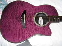 I HAVE A NEW OVATION CELEBRITY ELECTRIC OR ACOUSTIC