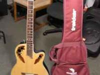Great travel guitar with gig bag. Mint condition. Call