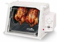 This Rotisserie/BBQ/Oven features a 3-hour automatic