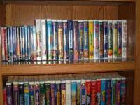 I have over 100 Movies. Mostly VHS and mostly Disney.