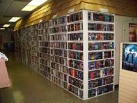 Come see the wall of movies. We have over 12,000 VHS
