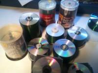 over 500 pcs new cdr and dvdr recordable cds and dvds