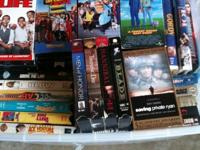 This is a lot of over 70 VHS movies, all different
