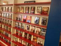 Great selection of DVDs . Just closed my store and