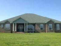 Over 9 acres! Custom brick hm w/3bdrm,2.5bth,frml