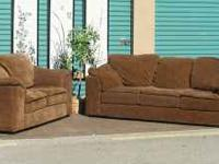 Over sized Microfiber Living room set $375 obo This