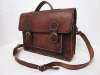 Genuine Bovine Leather Hand Crafted in Morocco width 14