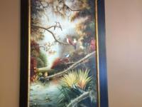 "Gorgeous 46""x76"" Over-sized oil painting with custom"