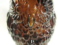Owl Glass Coin Bank Vintage - 050813  1960's-- 70, s