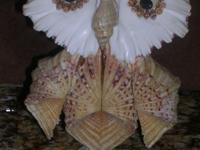 Owl made from shells---$35 A work of art from natural