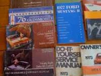 60's and 70's owners manuals Ford, Chevy, Mercury,