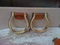 billy cook oxbow stirrups, good condition. laying in