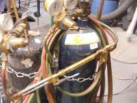 For Sale : Used Oxy-Acetylene welding set on hand cart.