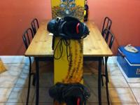 Ozone Snowboard w/SIMS boots (size 9) and bindings. The