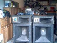 1 pair Kustom FLH15 Bass bins with M15 top horn