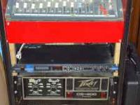 P.A. with soundcraft mixer. 2 power amps (mains and