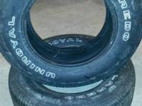 Two uniroyal tires for sale c decent tread, $40