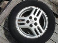 P225/60R16 LIKE NEW TIRES and PONTIAC OEM RIMS 16""