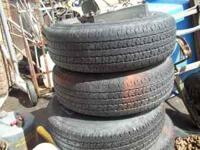Up for sale are 4 Trail Mark Radial tires. P225-75R-15