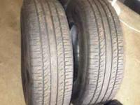 2 BFGoodrich Tires for 100$. I already sold two tires.