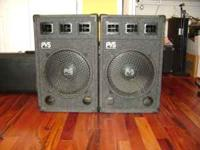 "18"" large speakers by Power Voice Systems in perfect"