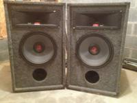 PA speaker cabinets pair filled with  2)Rockford
