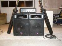 Nady PA System Included: -2 Speakers -1 four channel