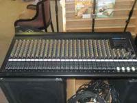 PA system. 24 channel mixer Peavey CS-800x Power amp,