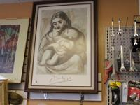 Pablo Picasso, Maternite, Mother and Child Print. This