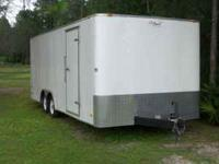 Enclosed Auto Hauler Gently used. This 2008 trailer was