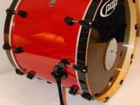 PDP 805 Drum Kit. Special order red with black