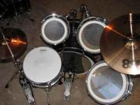 Great drum kit for sale. Like New condition. Bass,