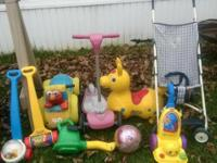 I have alot of baby and toddler items for sale,gently