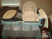 All are new. Pack n play with bassinet and changer has