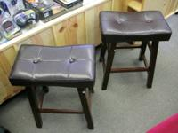 Solid Wood. Leather Upholstery. $36 each BoGo Discount