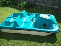 Turquoise body paddle boat. New seals for pedals
