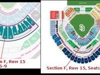 I have four tickets for sale for the 2016 Padres Home