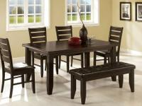PAGE DINING TABLE SET *Made of solids and veneers *