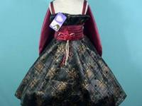 Pageant dress: black/burgundy size 6/7. Comes with