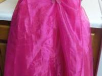 Hot Pink dress $75 new by Victoria kids size 18 girls,