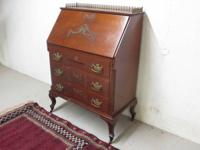 This is a fine example of a quality Victorian oak desk.