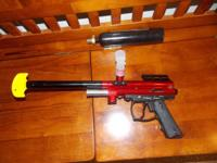 Paint Ball Gun and 9ounce Co2 canister Semi-Auto Spyder