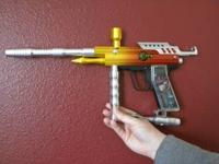 E-REX Speedball gun with Full Facemask. Includes Brass