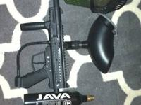 Paintball gun with everything need to play. $50 or best