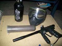 paintball gun with tank and mask. call  *leave a