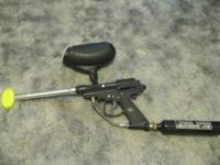 paintball gun, 9oz co2 tank and hopper. marauder brand.
