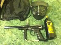 paintball gun with tank ,mask, and carry bag.great