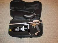 Icon z 32 degrees paintball gun with hopper ,jt