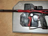 SMART PARTS EPIPHANY Red and black paintball gun. Two